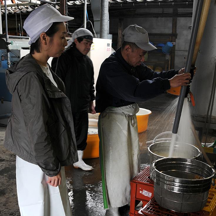 羽根屋(はねや) 富美菊酒造 洗米 羽根千鶴子