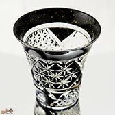八千代切子 墨色 杯 竹垣柄 LSB19755SBK-C638