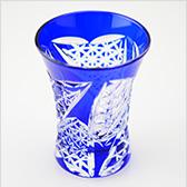 八千代切子 酒器 杯 矢絣柄(やがすりがら) LS19758SULM-C688