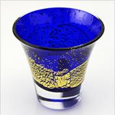 江戸硝子 瑠璃玻璃(るりはり) 冷酒杯 LS19616RULM