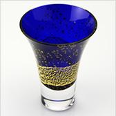 江戸硝子 瑠璃玻璃(るりはり) 冷酒杯 LS19617RULM