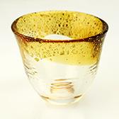 和がらす温(おん) 酒杯 琥珀・金箔 42140TS-G-WGAB