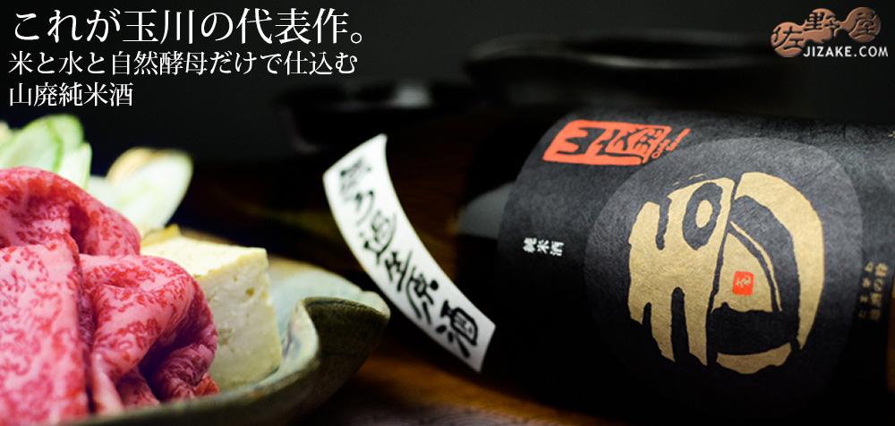 ◇玉川 自然仕込 山廃純米 無濾過生原酒 2019BY 仕込11号 1800ml