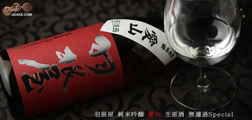 ◇羽根屋 純米吟醸 愛山 生原酒 無濾過Special 720ml